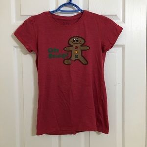 Bluenotes Red/Orange Gingerbread T-Shirt Small